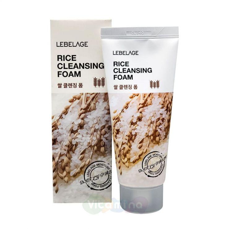 Lebelage Очищающая пенка с экстрактом рисовых отрубей Rice Cleansing Foam, 100 мл