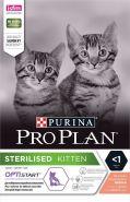 Purina Pro Plan Sterilised Kitten Корм сухой для стерилизованных котят, с лососем, 400 гр