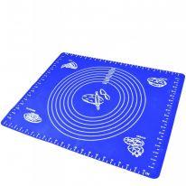 Силиконовый коврик для раскатывания теста, 50х70 см., синий