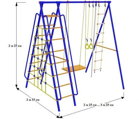 Непоседа-Дачник Модель № 5 Ширина Наклонных лестниц - 530 мм.