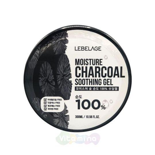 Lebelage Увлажняющий гель с древесным углем Moisture Charcoal Purity 100% Soothing Gel, 300 мл