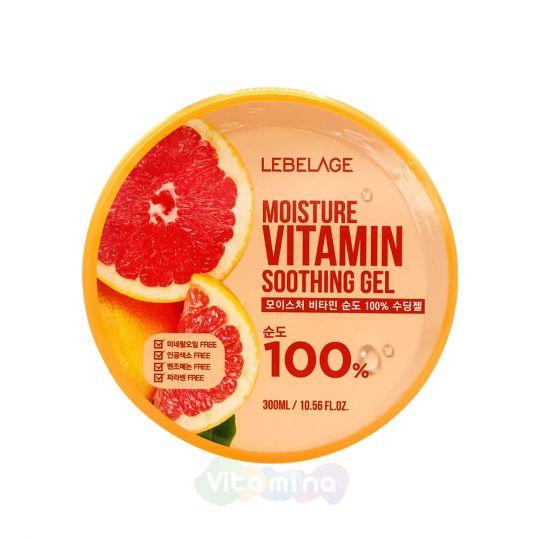 Lebelage Увлажняющий успокаивающий гель с витаминами Moisture Vitamin Purity 100% Soothing Gel, 300 мл