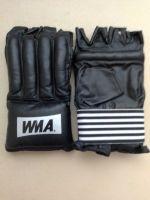 Шингарды для отработки ударов WBM-2473 натуральная кожа, чёрные, размер L