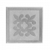 Плитка тротуарная Клевер (серая), 300х300х30 мм