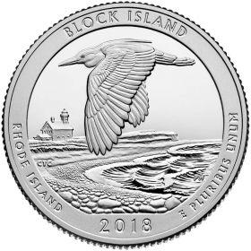 Национальный заповедник дикой природы о. Блок  25 центов США 2018 Монетный Двор S
