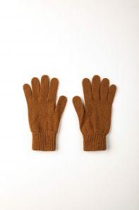 кашемировые перчатки мужские (100% драгоценный кашемир) , цвет Тёмный Верблюжий DARK CAMEL