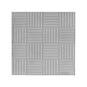 Плитка тротуарная Паркет (серая), 300х300х30 мм
