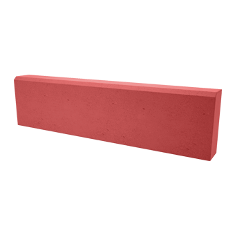 Камень бордюрный садовый (красный), 1000х200х80 мм