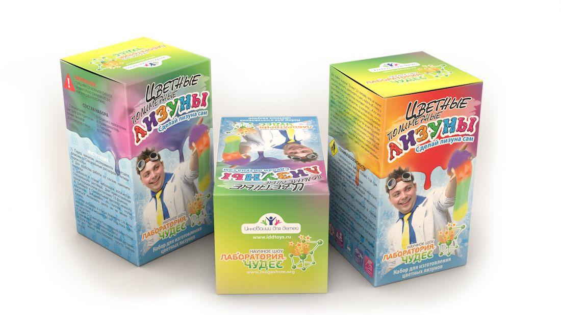 Набор для опытов ИННОВАЦИИ ДЛЯ ДЕТЕЙ 819 Цветные лизуны