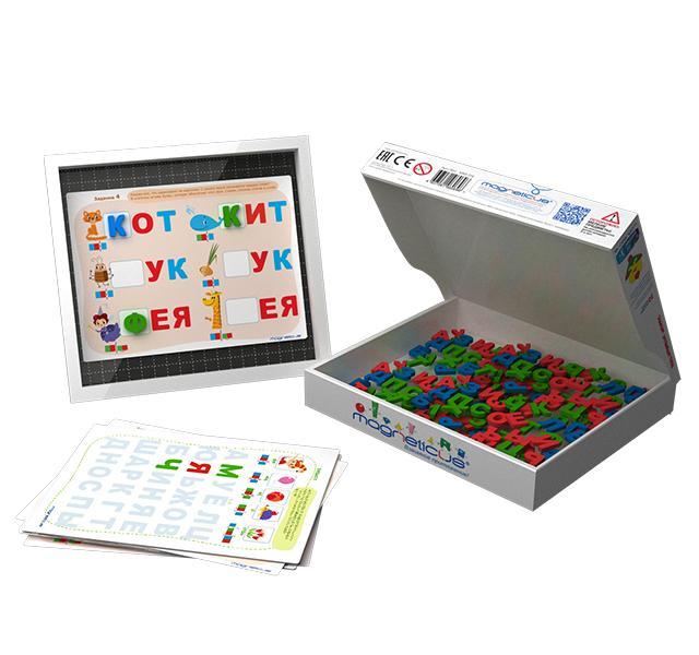 Обучающий набор MAGNETICUS OBU-004 Мягкая азбука Буквы и звуки