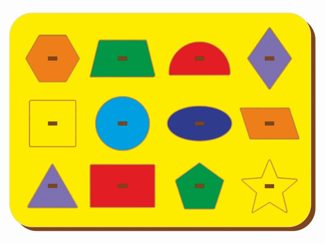 Рамка-вкладыш WOODLANDTOYS 082101 Монтессори геометрия 1