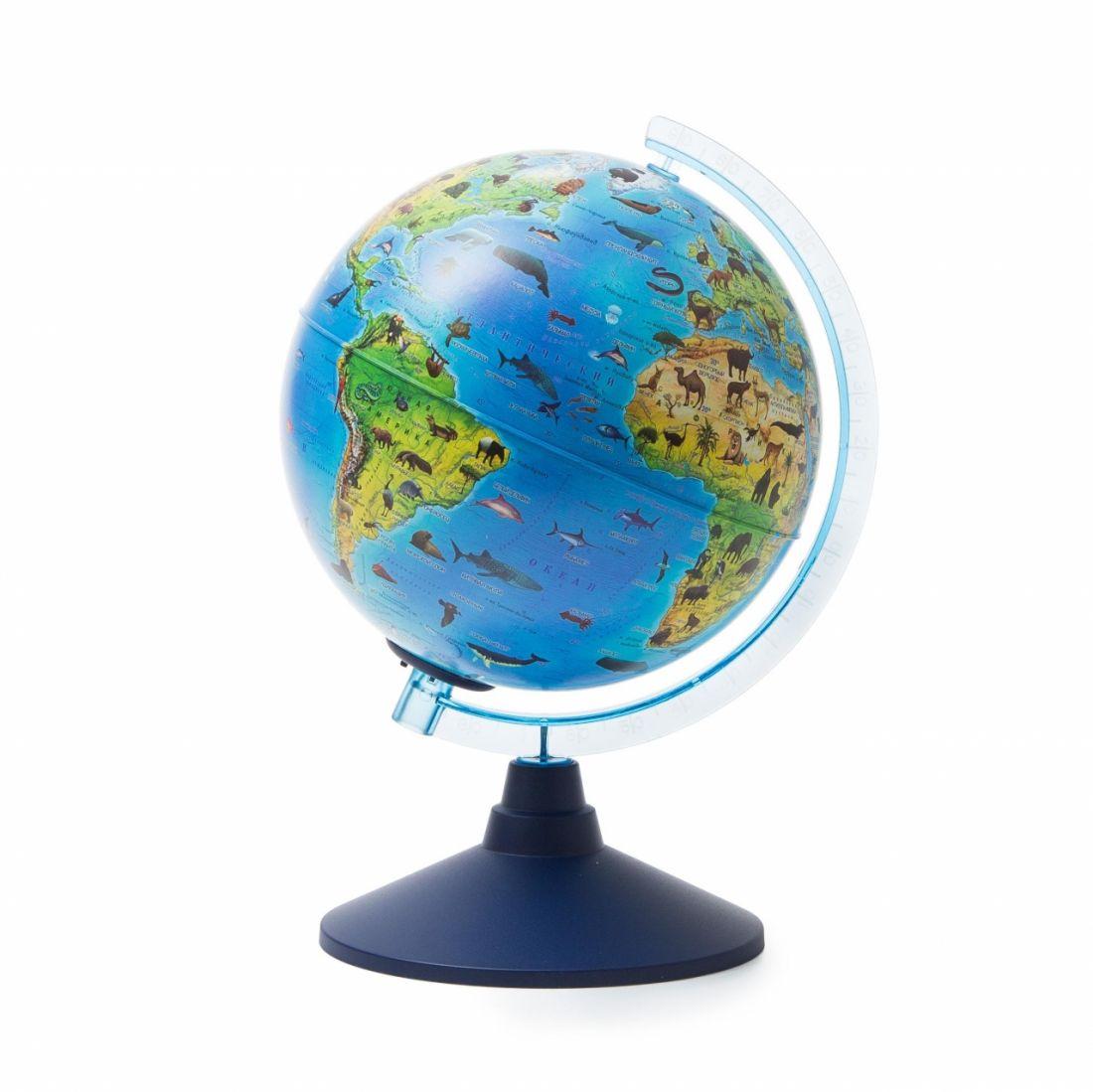 Глобус GLOBEN Ве012100249 Зоогеографический (Детский) (батарейки) 210 Классик Евро