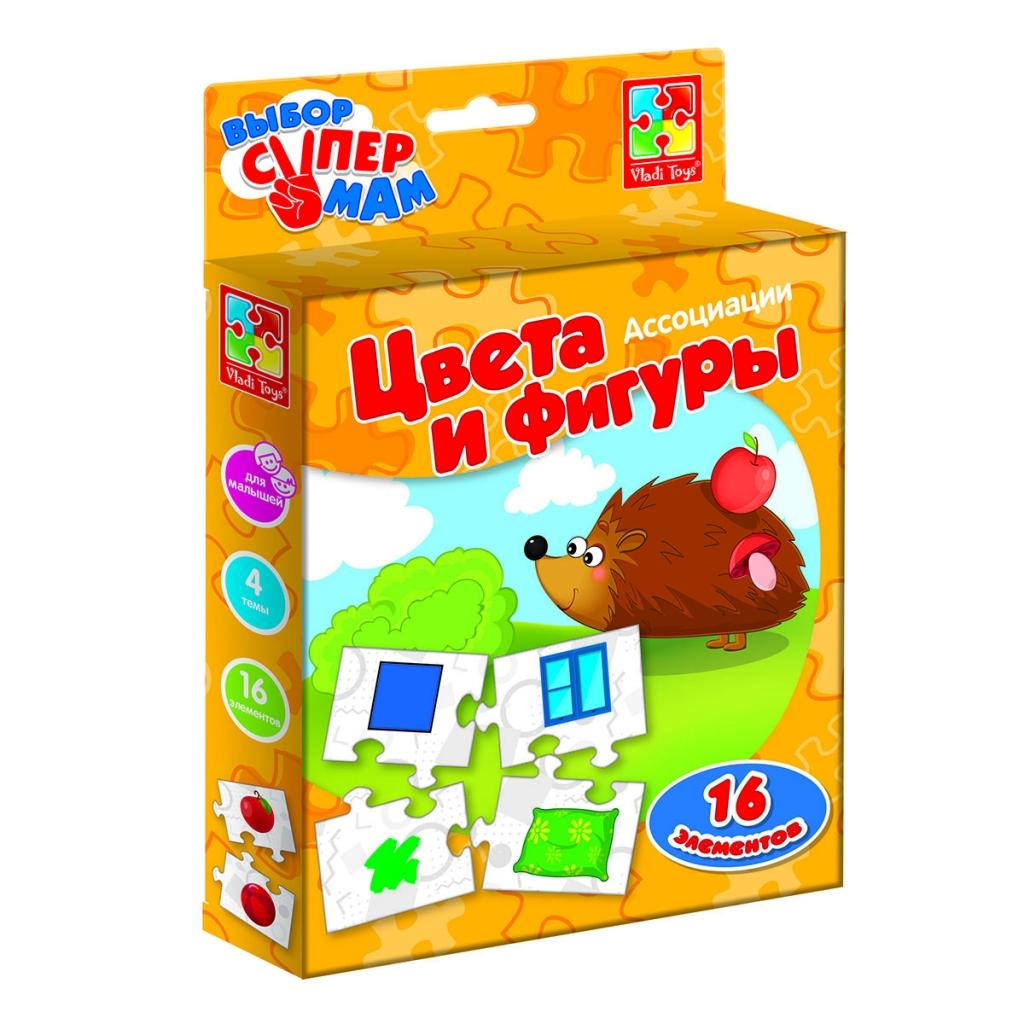 Развивающая игра VLADI TOYS VT1901-38 Ассоциации Цвета и фигуры
