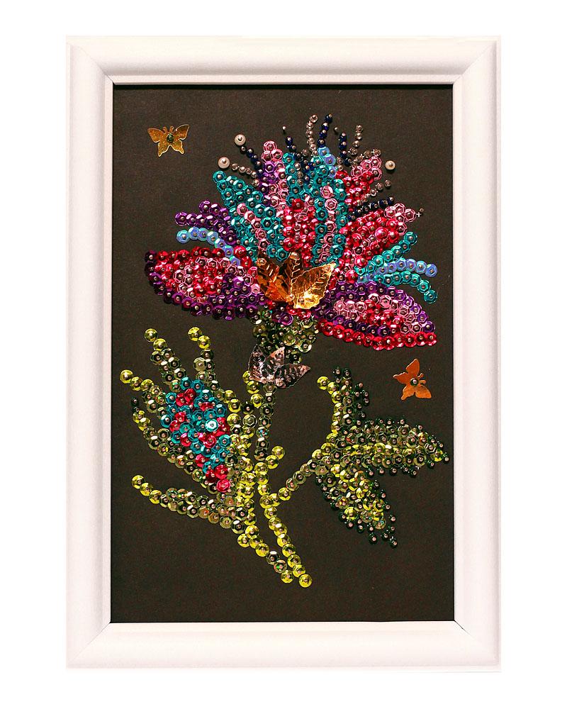 Мозаика из пайеток ВОЛШЕБНАЯ МАСТЕРСКАЯ М028 Волшебный цветок