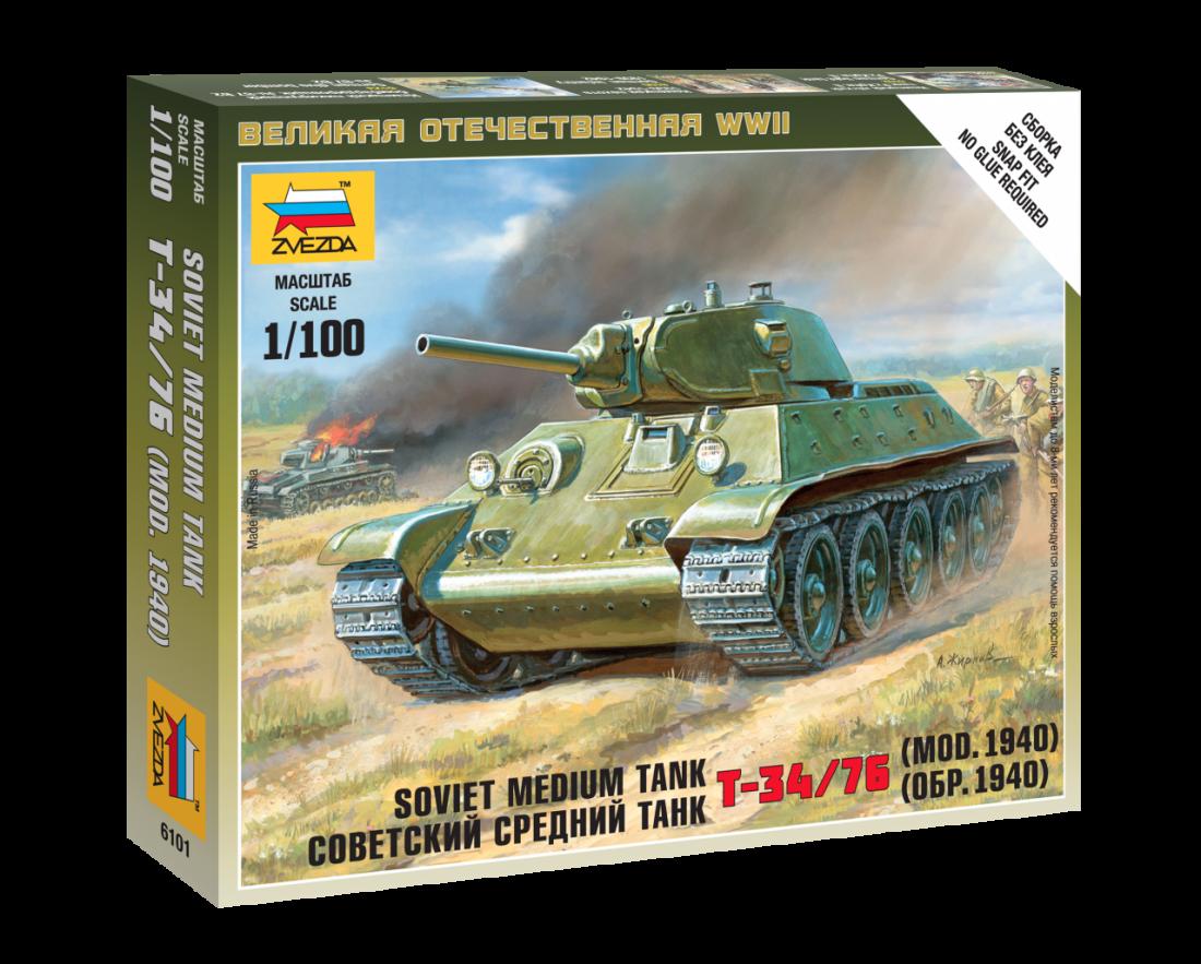 Сборная модель ZVEZDA 6101 Советский средний танк Т-34/76