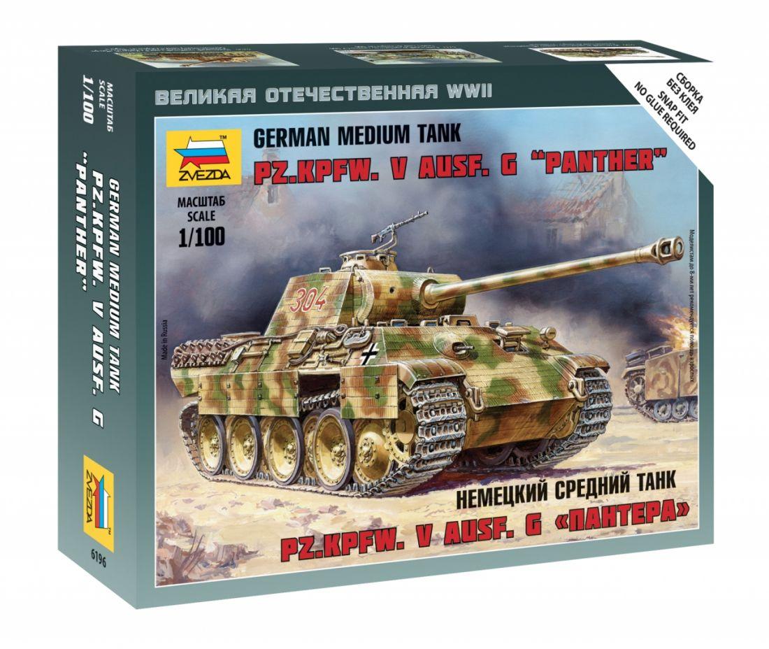 Сборная модель ZVEZDA 6196 Немецкий средний танкПантера