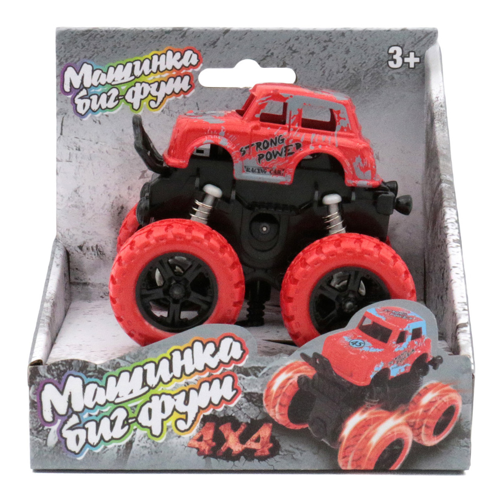 Машина пластиковая FUNKY TOYS 60001 инерционная красная 4*4