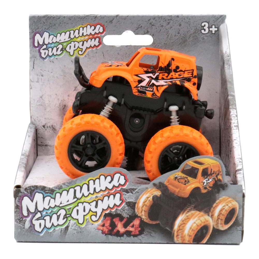 Машина пластиковая FUNKY TOYS 60004 инерционная оранжевая 4*4