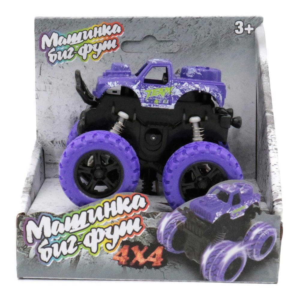 Машина пластиковая FUNKY TOYS 60002 инерционная фиолетовая 4*4