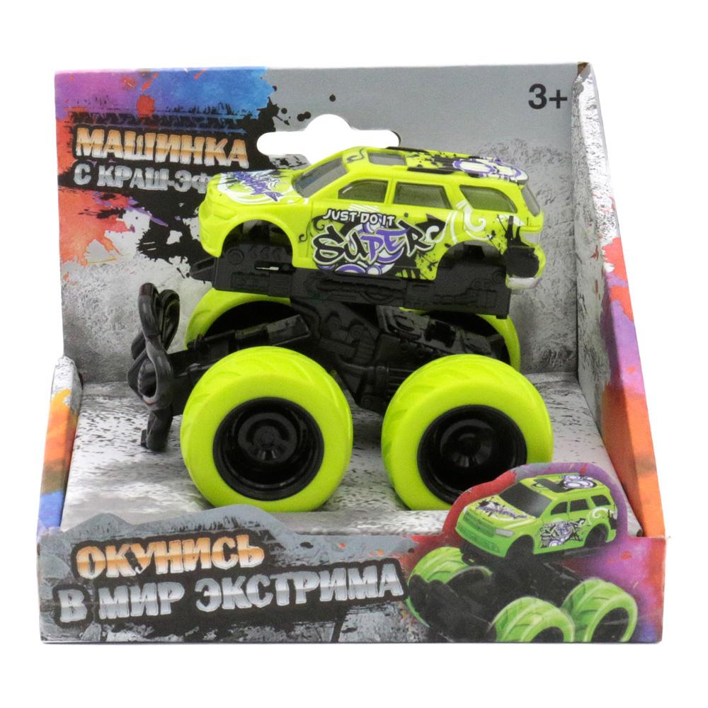 Машина пластиковая FUNKY TOYS 60008 с краш-эффектом, пул-бэк, зелёная