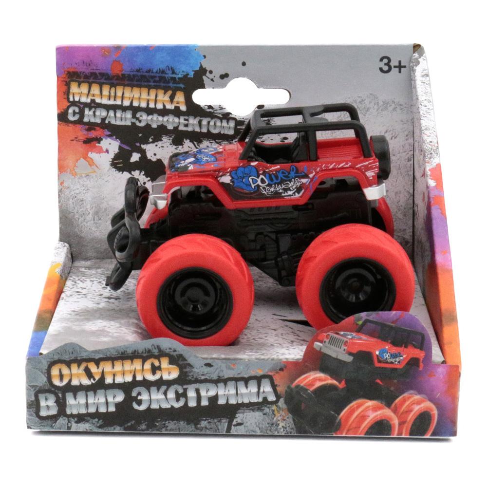 Машина пластиковая FUNKY TOYS 60006 с краш-эффектом, пул-бэк, красная