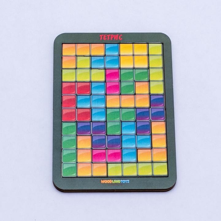 Логическая игра WOODLAND 65206 Тетрис малый цветная мозайка
