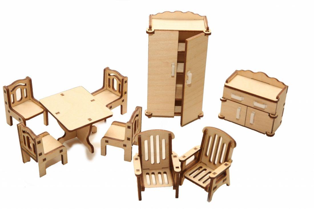 Набор кукольной мебели HAPPYKON HK-M002 Зал