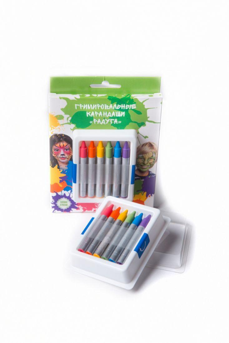 Аквагрим ФТКОСМЕТИК 020103 карандаши радуга 6 цв.