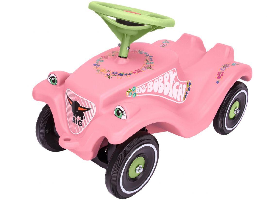 Каталка-толокар BIG 56110 Bobby Car Classic розовые цветы