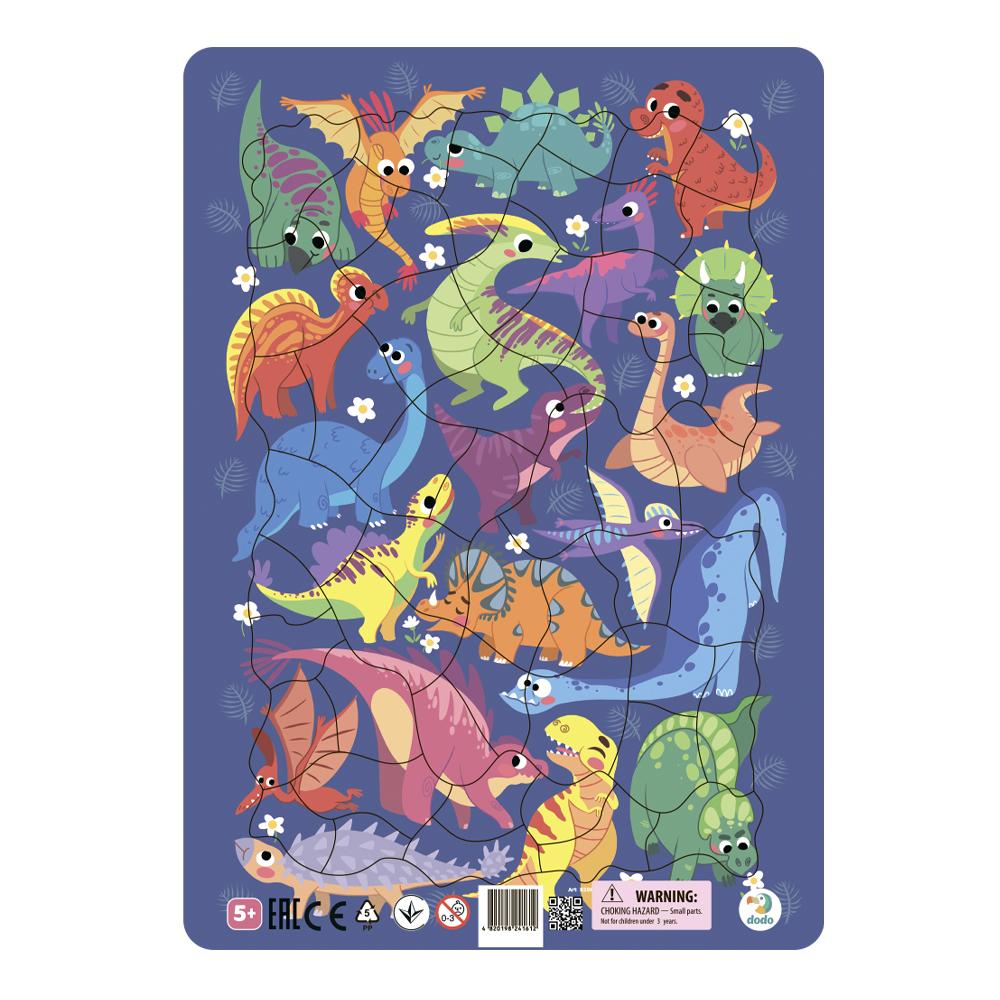 Пазл DODO R300181 Динозавры в рамке