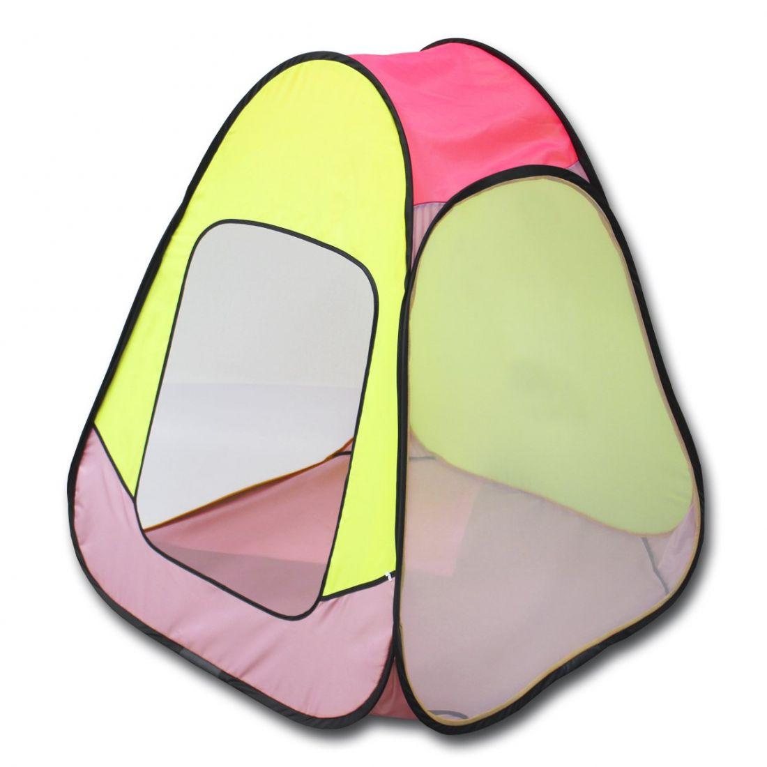 Палатка BELON FAMILIA ПИ-004-КМ-ТФ2 Конусная 4гр., жёлто-розовая
