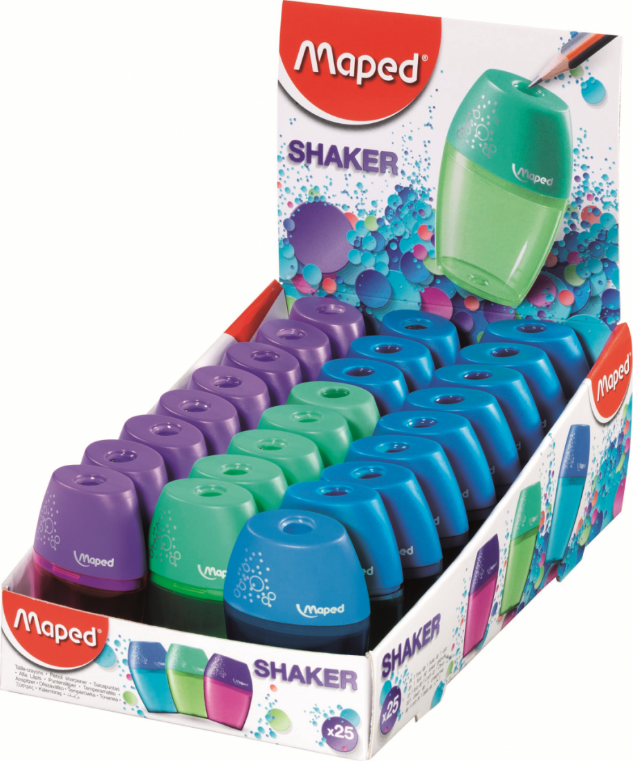 Точилка MAPED 534753 SHAKER 1 отверстие с контейнером