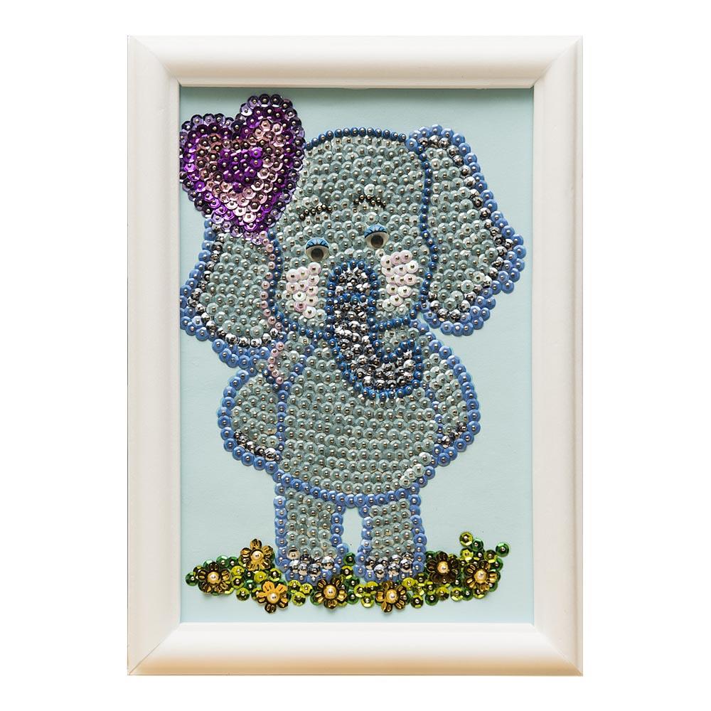Мозаика из пайеток ВОЛШЕБНАЯ МАСТЕРСКАЯ М022 Слоненок
