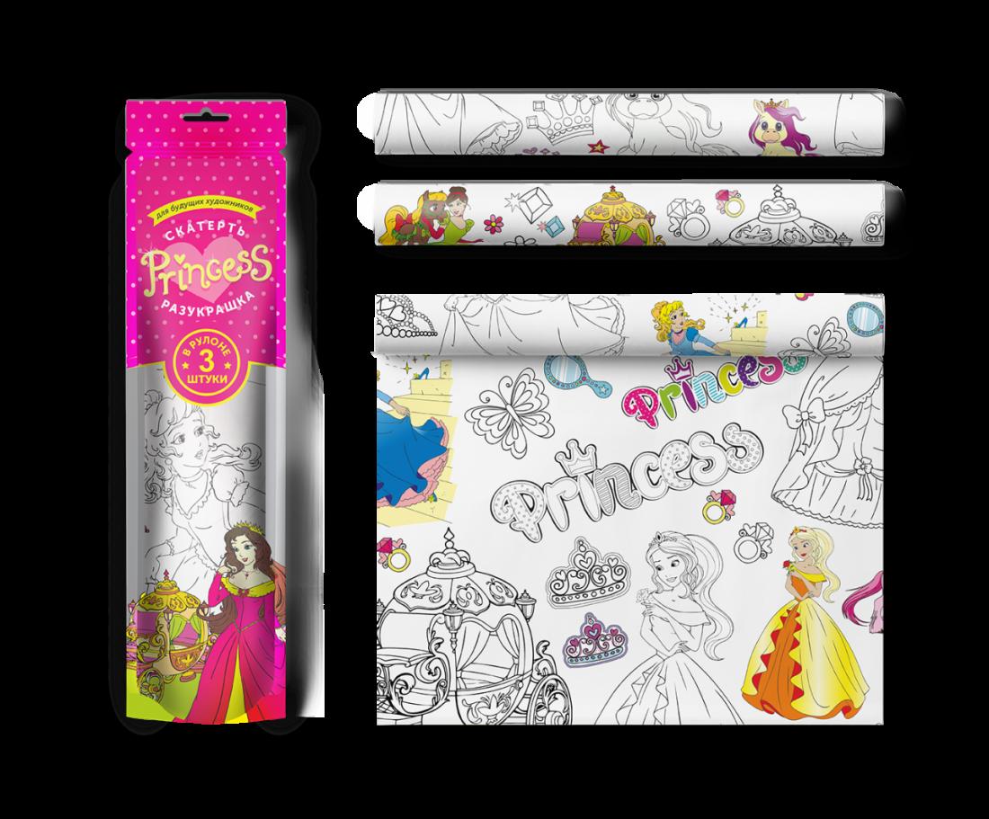 Раскраска МОЗАИКА-СИНТЕЗ V081563 Скатерть ButtenFilm Для юных принцесс