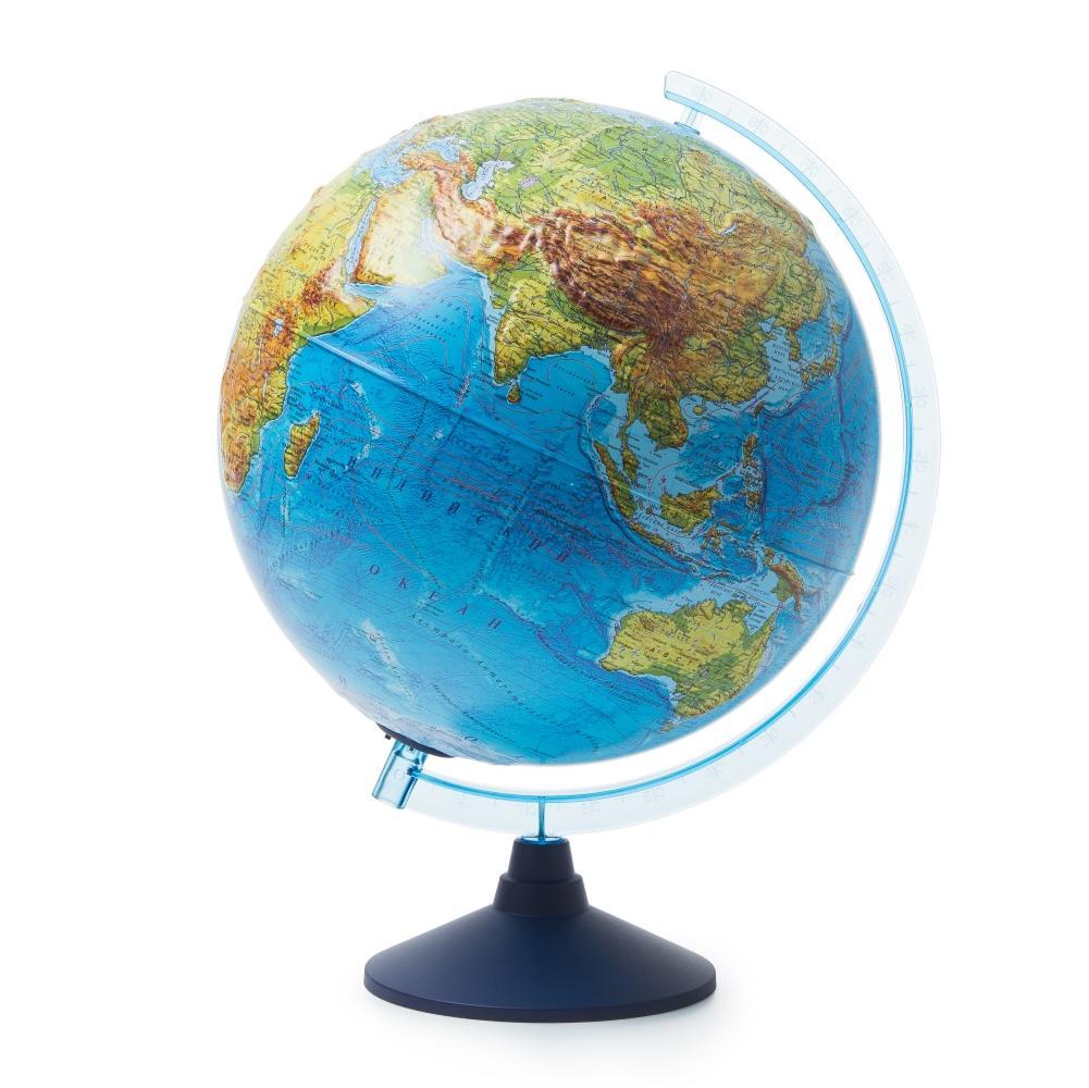 Глобус GLOBEN INT13200291 Интерактивный физико-политический рельефный с подсветкой (батарейки) 320 с очками VR