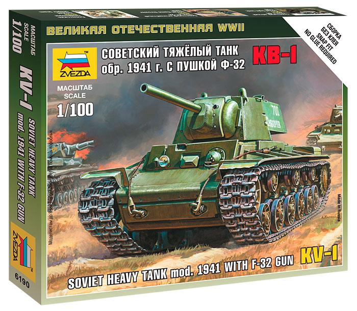 Сборная модель ZVEZDA 6190 Советский тяжелый танк КВ-1