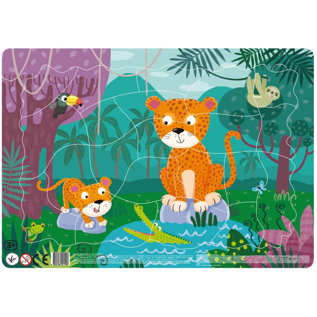Пазл DODO R300185 Леопарды в рамке