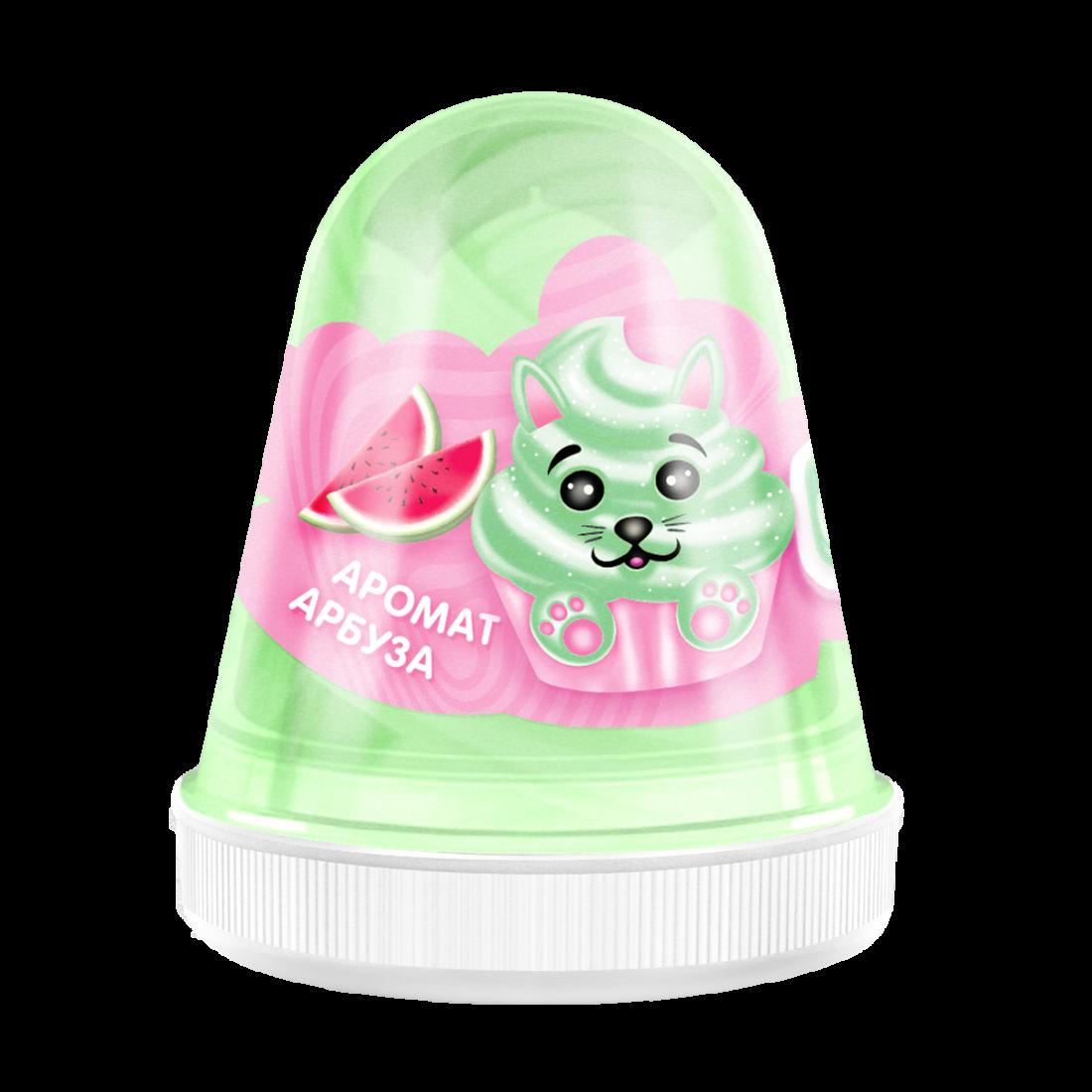 Слайм MONSTER'S SLIME FL002 Fluffy Арбуз светло-зеленый