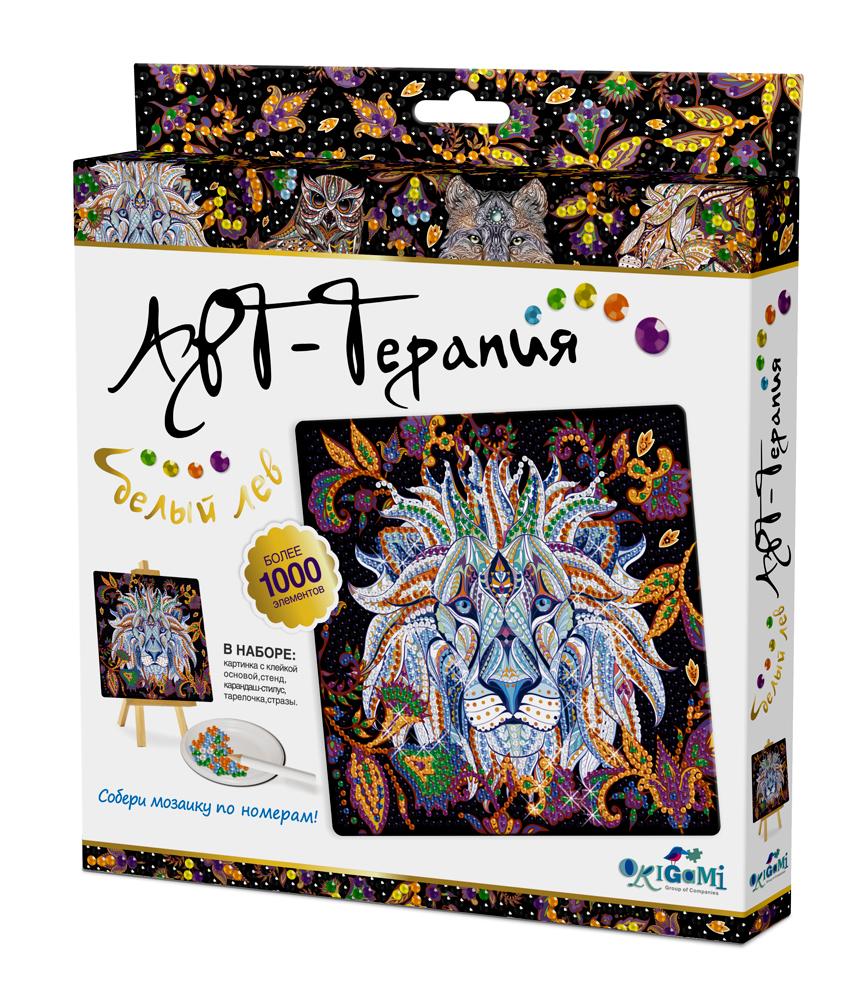 Набор для творчества ORIGAMI 03217 Алмазные узоры.Белый лев
