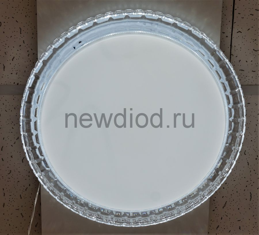 Управляемый светодиодный светильник AKRILIKA 681 48Вт-12м² 6/3/4000K пульт 400мм белый Oreol