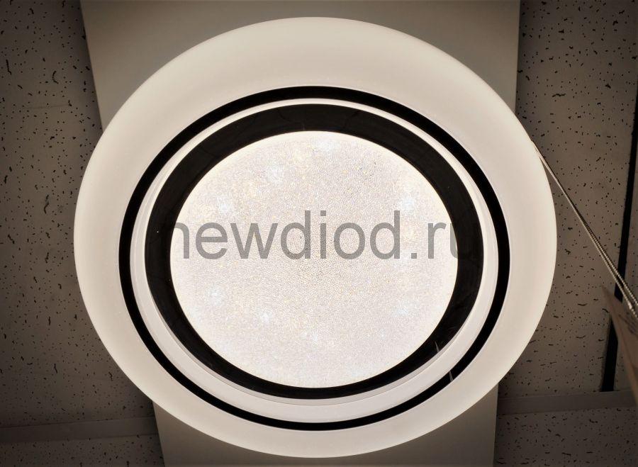 Управляемый светодиодный светильник CRYSTAL 914 48Вт-12м² 6/3/4000K пульт 400мм белый Oreol