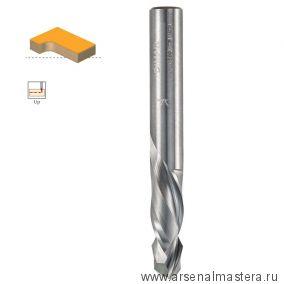 Фреза спиральная компрессия Z 2/2 D6 x 20 L60 хвостовик 6 ДСП шпон DIMAR 1743203
