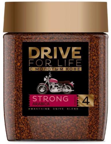 Drive for life Кофе сублимированный c молотым Strong
