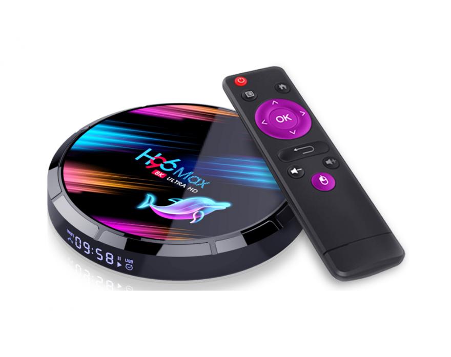 Смарт TV приставка H96 Max X3 S905x3 Android 9 4/128 Гб
