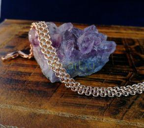 """Позолоченный браслет, двухрядное плетение """"кольчуга"""", 7 мм (арт. 250278)"""