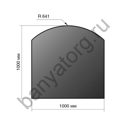 Лист напольный Везувий 1000Х1000Х2 R 641
