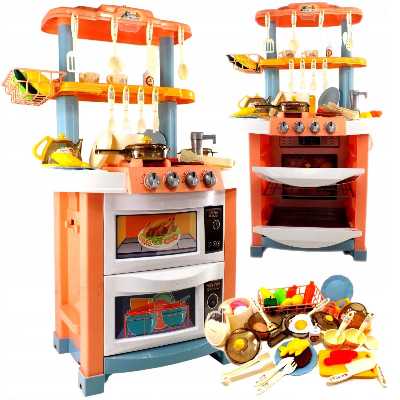 718A Кухня игровая с водой и набором аксессуаров, холодным паром, пароваркой