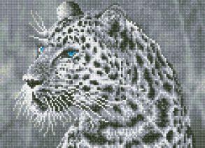 Алмазная мозаика «Леопард» 40x50 см