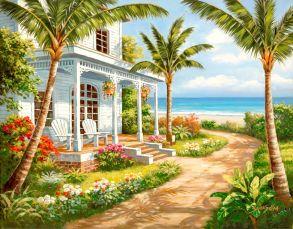 Алмазная мозаика «Гасиенда на берегу моря» 40x50 см