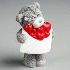 """Силиконовая форма """"Медвежонок Me to you с конвертом сердец"""""""